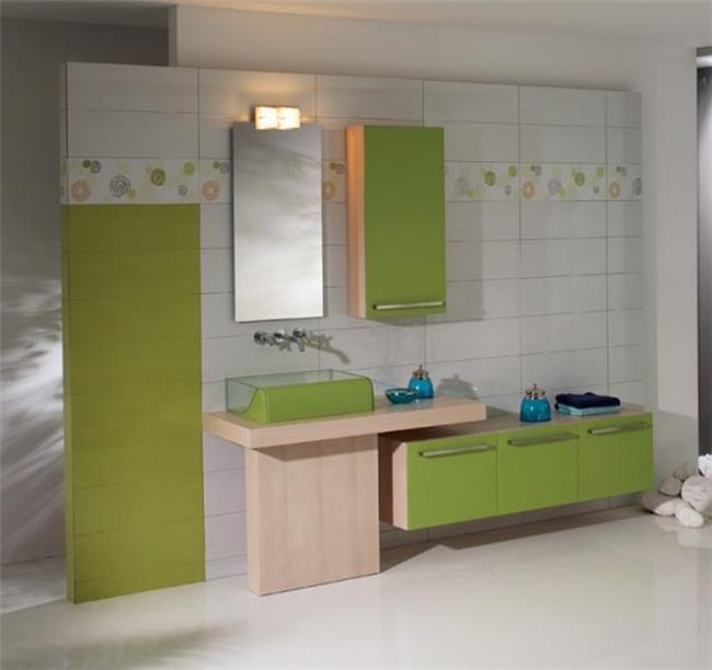 ריהוט אמבטיה בגוון ירוק - OM Design