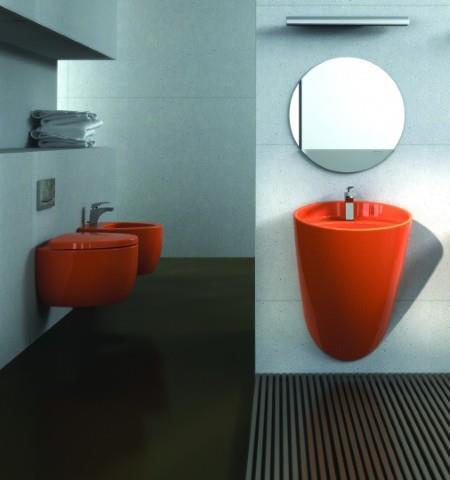 כיור אדום תלוי - OM Design