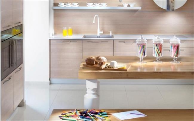 מטבח עץ בהיר - Samgal concept