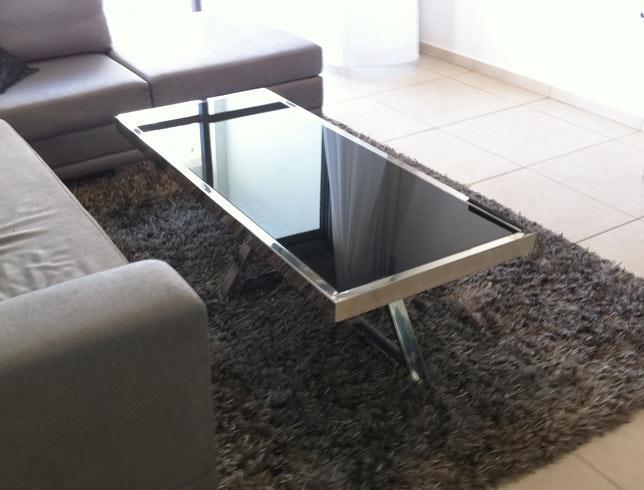 """שולחן מלבני לסלון - נוף עיצובים פלוס בע""""מ"""