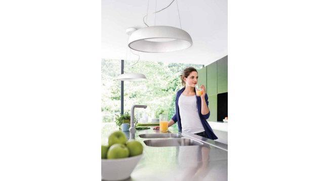 מנורה תלויה לבנה - luce לוצ'ה תאורה - עודפים