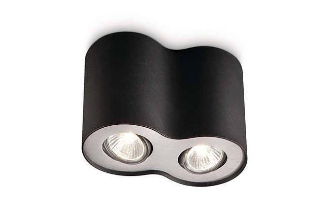 צמוד תקרה כפול שחור - luce לוצ'ה תאורה - עודפים