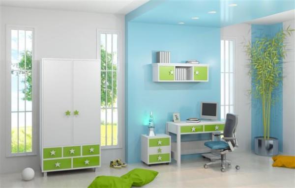 חדר ילדים ירוק לבן - אלוף המזרונים