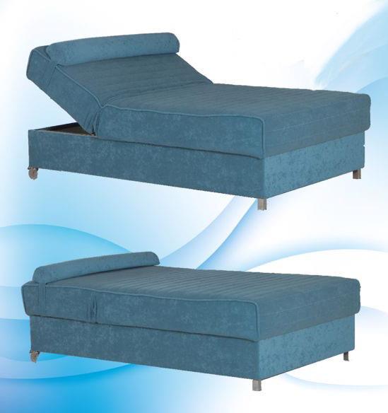 מיטת וחצי בכחול עדין - אלוף המזרונים