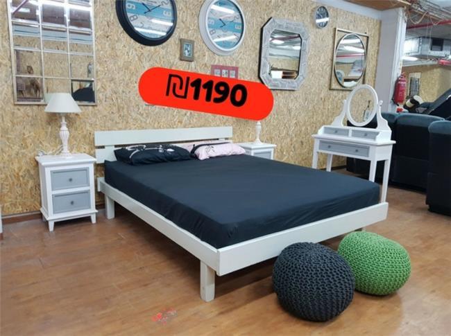 מיטה זוגית מעץ  - אלוף המזרונים