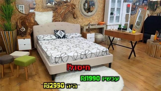 מיטה דגם ויקטוריה צבע בהיר - אלוף המזרונים