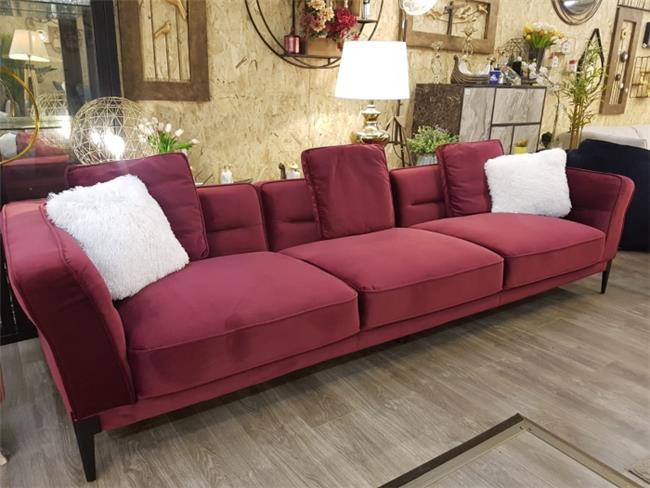 ספה בצבע בורדו דגם 9370  - אלוף המזרונים