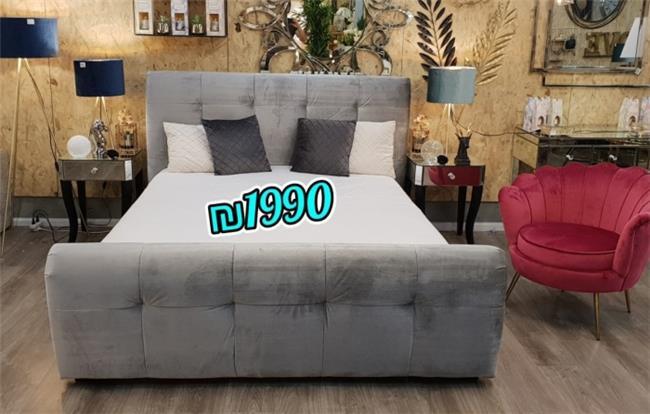 מיטה זוגית מעוצבת דגם ויולט  - אלוף המזרונים
