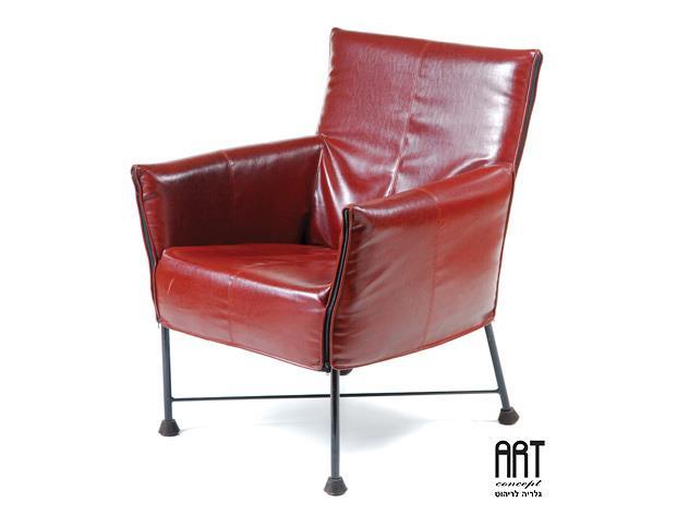 כורסא אדומה מעוצבת - ART - גלריה לריהוט