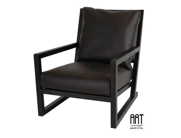 כורסא שחורה לסלון - ART - גלריה לריהוט