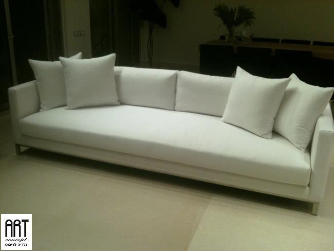 ספה לבנה בעיצוב יוקרתי - ART - גלריה לריהוט