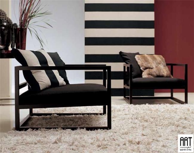 כורסא אלגנטית שחורה - ART - גלריה לריהוט