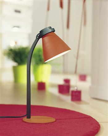 מנורה שולחנית כתומה - luce לוצ'ה תאורה - עודפים
