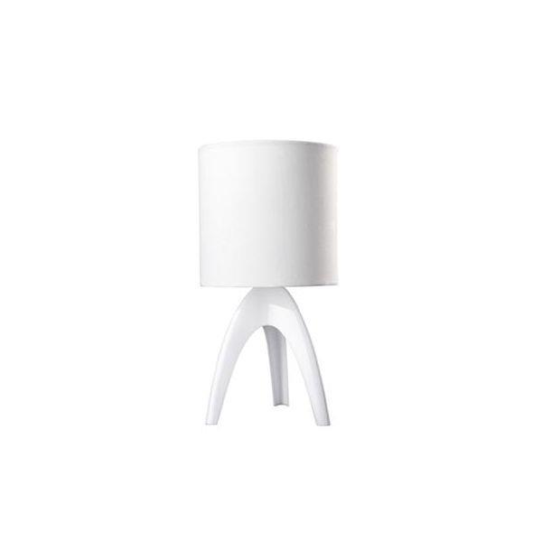 מנורה לבנה לשולחן - luce לוצ'ה תאורה - עודפים