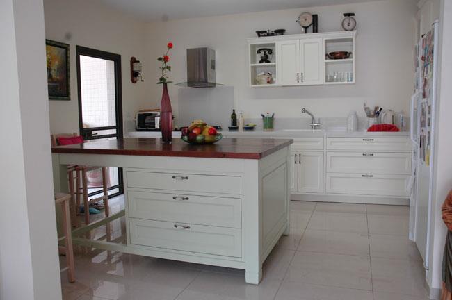 מטבח כפרי משולב - VNG עיצובים בעץ