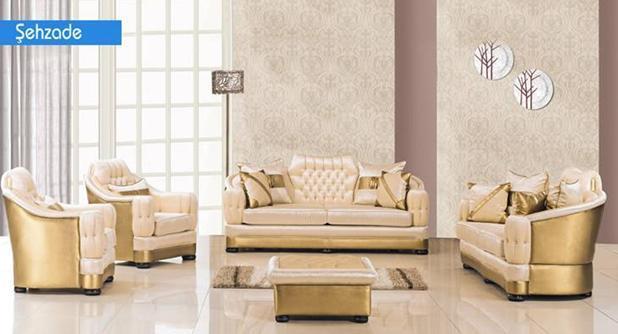 מערכת ישיבה בזהב - אלבור רהיטים