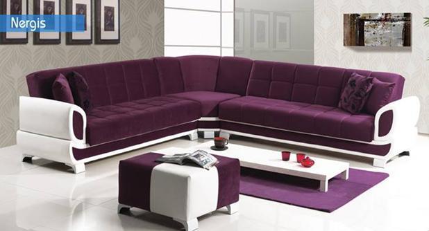 ספה פינתית סגולה - אלבור רהיטים
