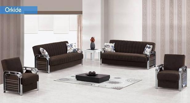 מערכת ישיבה חומה - אלבור רהיטים