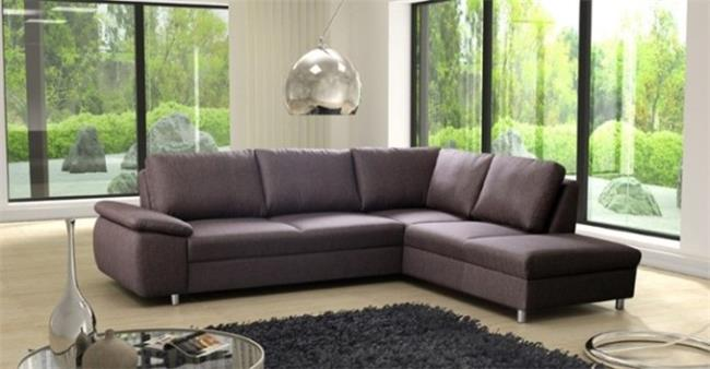 ספה חומה עם שזלונג - אלבור רהיטים