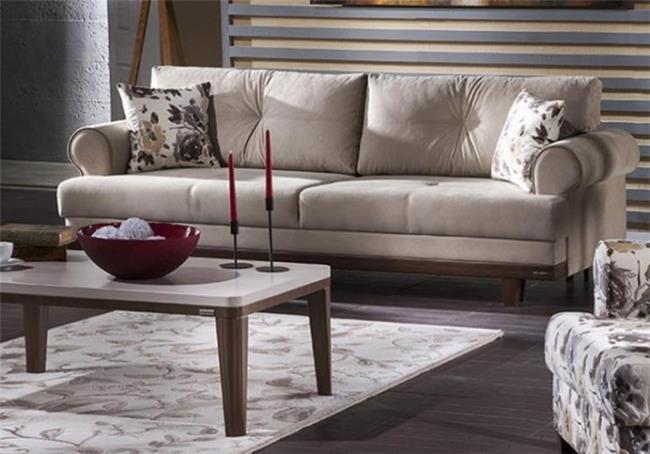 ספה מעוצבת בהירה - אלבור רהיטים