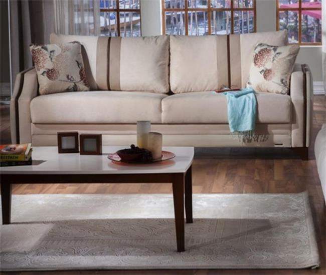 ספה תלת מושבית בהירה - אלבור רהיטים