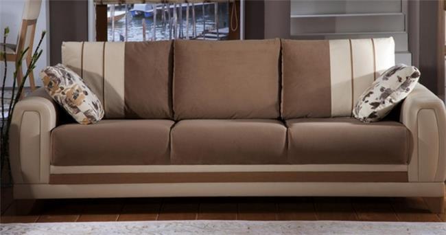 ספה חומה מעוצבת - אלבור רהיטים