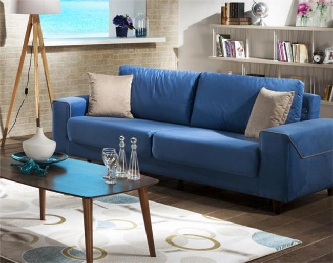 ספה כחולה - אלבור רהיטים