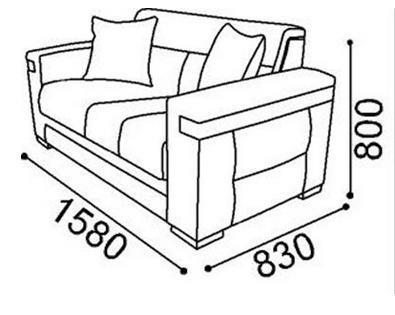 ספה דו מעוצבת - אלבור רהיטים