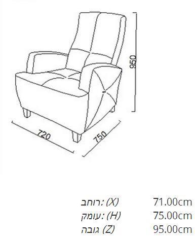 כורסא בדוגמת פרחים - אלבור רהיטים