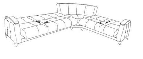 ספה נפתחת לסלון - אלבור רהיטים