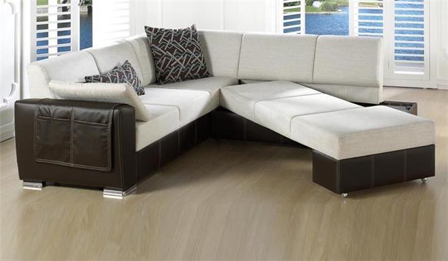 ספה פינתית לבנה - אלבור רהיטים
