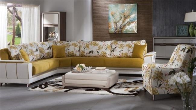 ספה פינתית צהובה - אלבור רהיטים