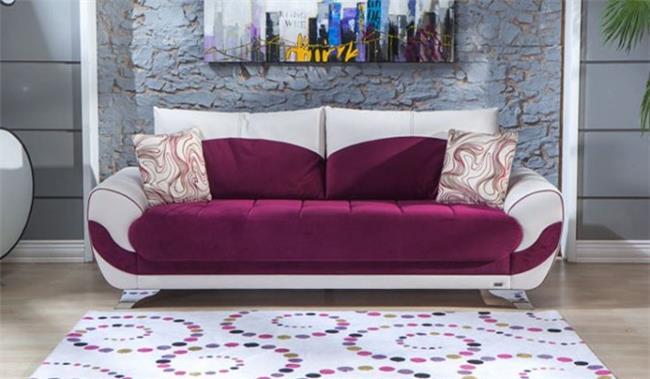 ספה בורדו לבן - אלבור רהיטים