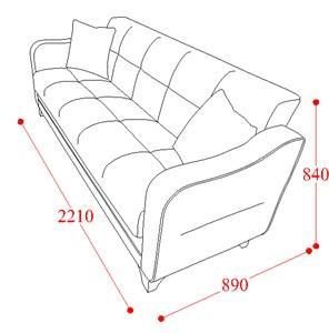 ספה לבן כתום - אלבור רהיטים