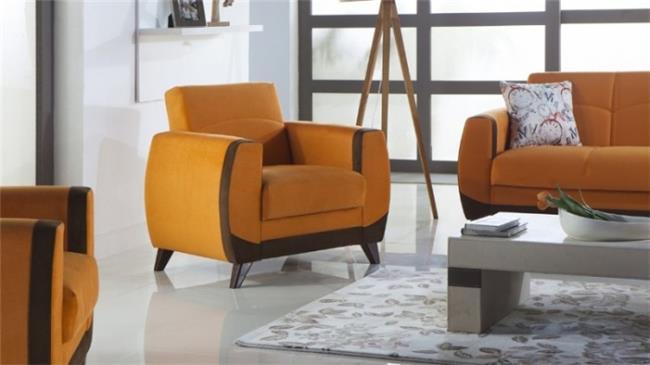 כורסא כתומה - אלבור רהיטים