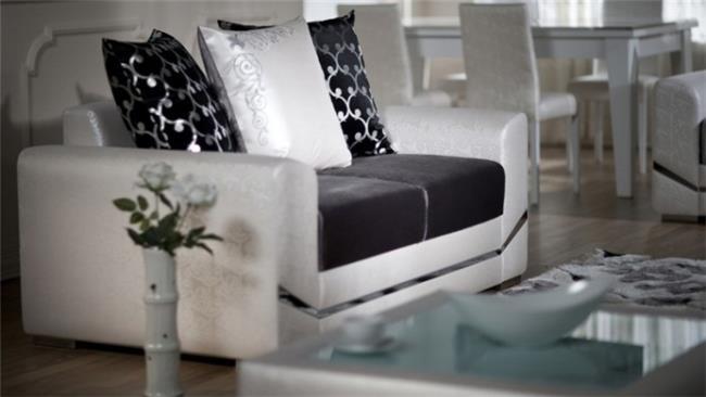 ספה זוגית שחור לבן - אלבור רהיטים