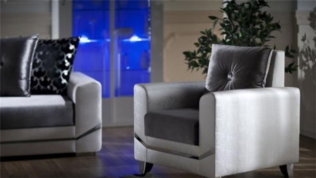 כורסא שחור שמנת - אלבור רהיטים