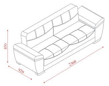 ספה מרשימה תלת מושבית - אלבור רהיטים