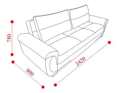 ספה בשילוב צבעים - אלבור רהיטים
