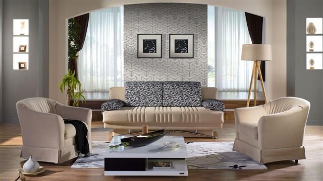 סלון בצבע בהיר - אלבור רהיטים