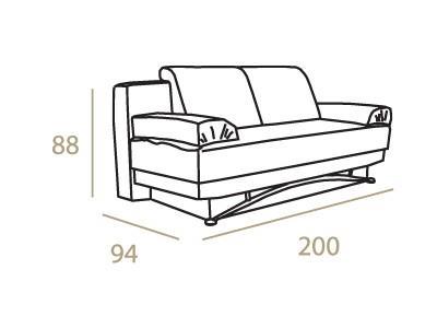 ספה אדומה מעוצבת - אלבור רהיטים
