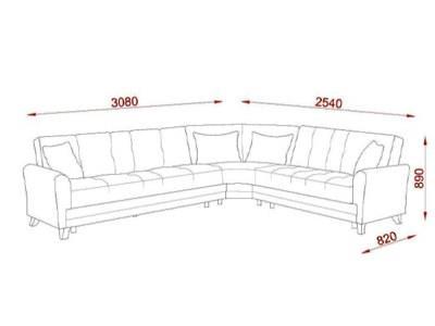 ספה פינתית בז' - אלבור רהיטים