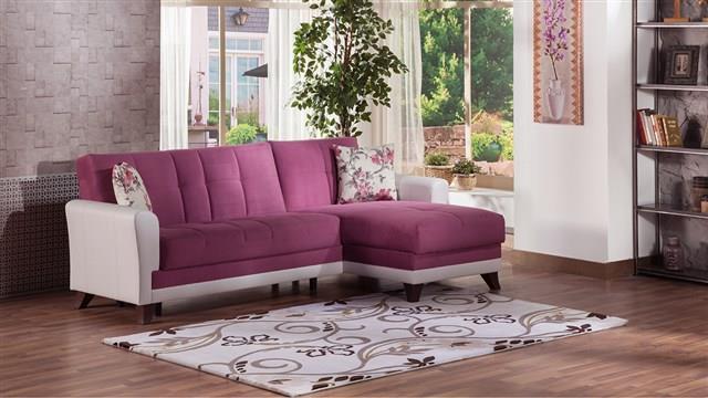 ספה פינתית ורוד פוקסיה - אלבור רהיטים