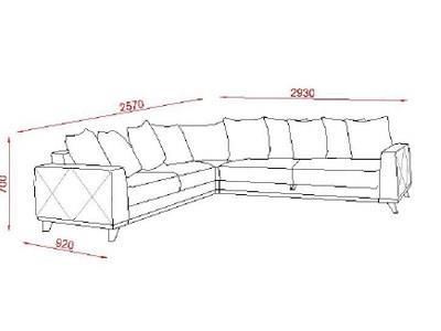 ספה פינתית בגוון בהיר - אלבור רהיטים