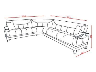 ספה פינתית בלבן - אלבור רהיטים