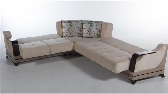 ספה פינתית נפתחת לאחסון - אלבור רהיטים