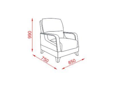 כורסא מעוצבת פרחונית - אלבור רהיטים