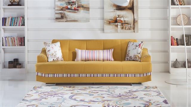 ספה צהובה מעוצבת - אלבור רהיטים