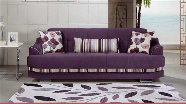 ספה תלת מושבית סגולה - אלבור רהיטים