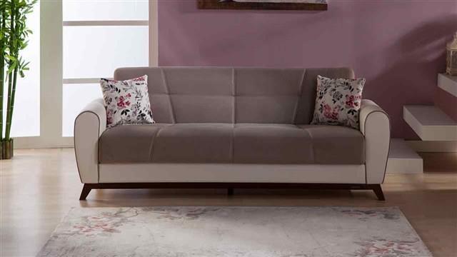 ספה תלת מושבית חומה - אלבור רהיטים